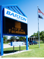 Barton county campus welcome sign